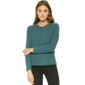Madewell Hexcomb Textured Heather Spruce Sweater